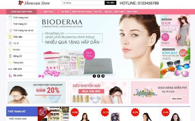 Website mỹ phẩm tăng doanh thu