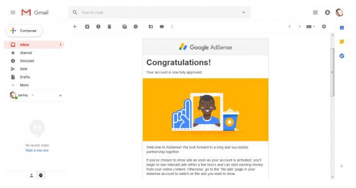 Bạn cần đăng ký tài khoản Google Adsense.