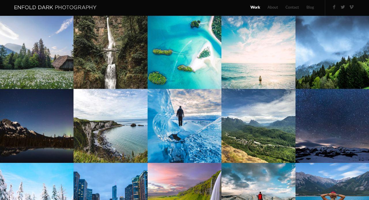 Mẫu website đẹp nhất thế giới về Photography - Enfold