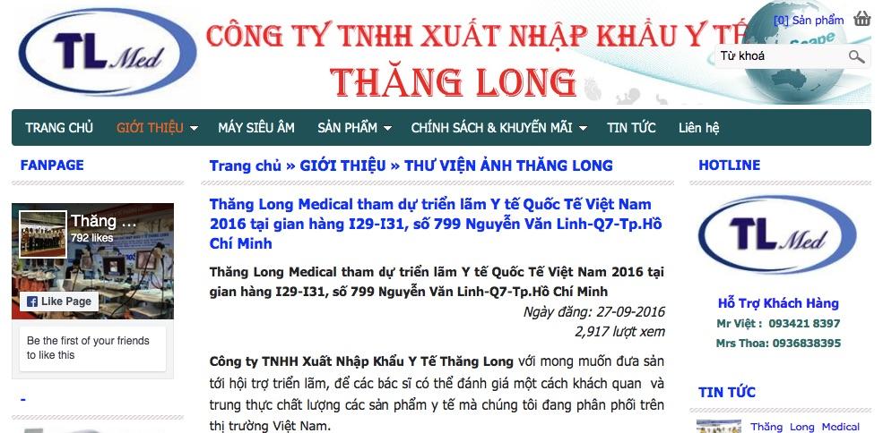 Xuất nhập khẩu y tế Thăng Long