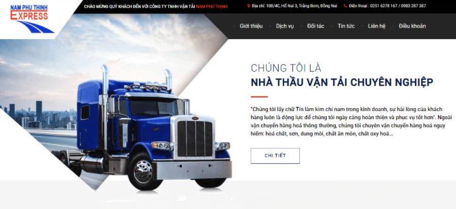 dịch vụ vận tải hàng hóa Nam Phú Thịnh