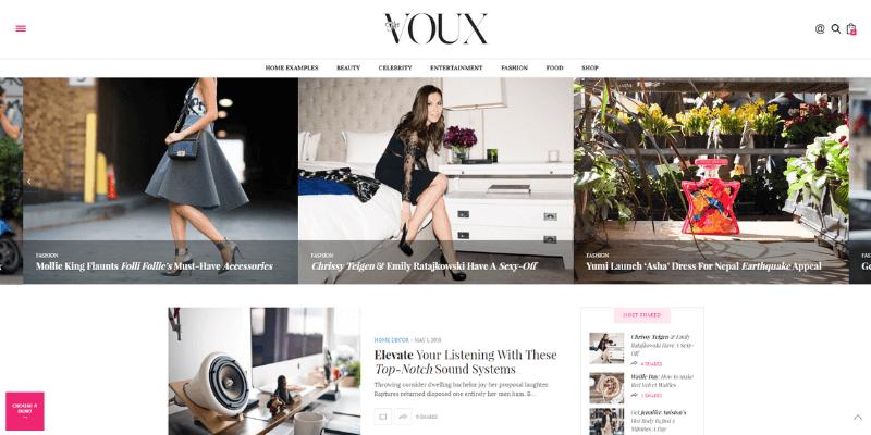 theme wordpress tin tức voux